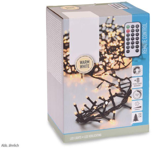 LED-Büschellichterkette, 700 LEDs, kaltweiß, 230V~, IP44, 17 m, Timer, FB - Produktbild 3