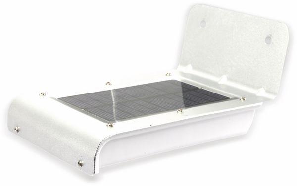 Solar-LED Wandleuchte DAYLITE TY120 mit Sensor,1,7W, silber/weiß