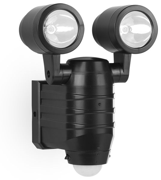 LED- Doppelleuchte FSL-80113, mit Bewegungssensor, schwarz, Batteriebetrieb - Produktbild 1