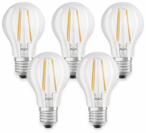 LED-Lampe OSRAM BASE CLASSIC A, E27, EEK: A++, 7 W, 806 lm, 2700 K, 5 Stk.