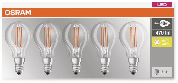 LED-Lampe OSRAM BASE CLASSIC P, E14, EEK: E, 4 W, 470 lm, 2700 K, 5 Stk. - Produktbild 3