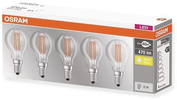 LED-Lampe OSRAM BASE CLASSIC P, E14, EEK: A++, 4 W, 470 lm, 2700 K, 5 Stk. - Produktbild 4