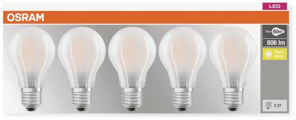 LED-Lampe OSRAM BASE CLAS A, E27, EEK: A++, 7W, 806 lm, 2700 K, 5 Stk. matt - Produktbild 3