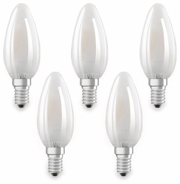 LED-Lampe OSRAM BASE CLAS A, E14, EEK: A++, 4W, 470 lm, 2700 K, 5 Stk. matt