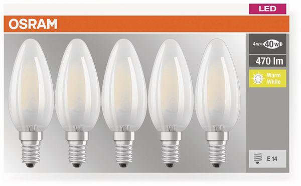 LED-Lampe OSRAM BASE CLAS A, E14, EEK: E, 4W, 470 lm, 2700 K, 5 Stk. matt - Produktbild 3