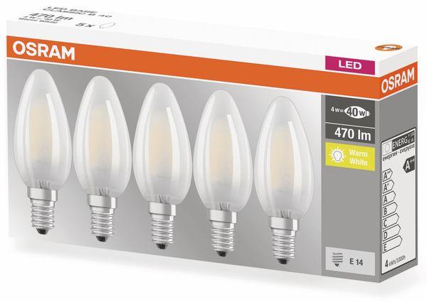 LED-Lampe OSRAM BASE CLAS A, E14, EEK: A++, 4W, 470 lm, 2700 K, 5 Stk. matt - Produktbild 4