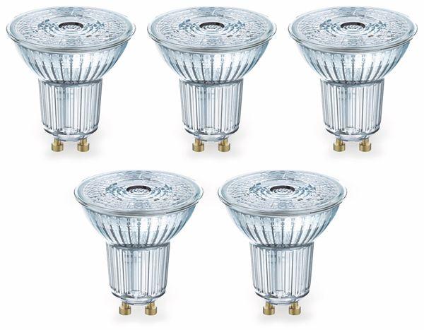 LED-Lampe OSRAM LED BASE PAR16, GU10, EEK A+, 4,3 W, 350 lm, 2700 K, 5 Stk. - Produktbild 2