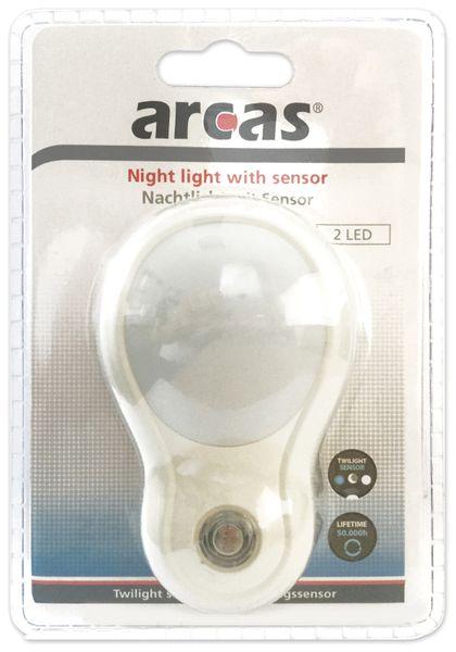Nachtlicht ARCAS 30740011 mit Sensor, 230 V~ - Produktbild 2
