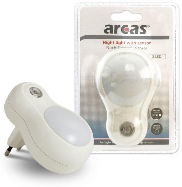 Nachtlicht ARCAS 30740011 mit Sensor, 230 V~ - Produktbild 3