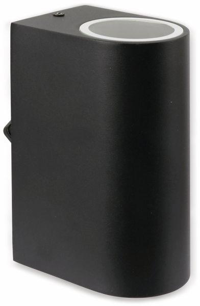 Wandleuchte GRUNDIG 07538, Aluminium,GU10, IP 44, schwarz