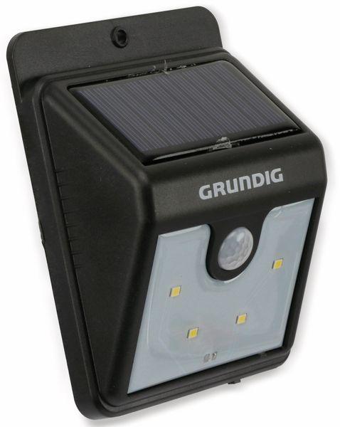Solar-LED Wandleuchte GRUNDIG 06999, mit Sensor, 40 Lm, schwarz - Produktbild 1