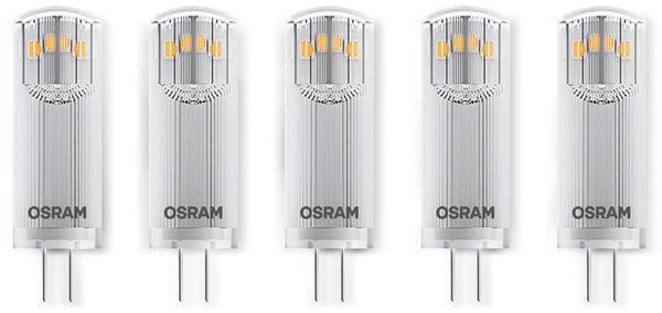 LED-Lampe OSRAM BASE, G4, EEK: A++, 1,8 W, 200 lm, 2700 K, 5 Stück - Produktbild 1