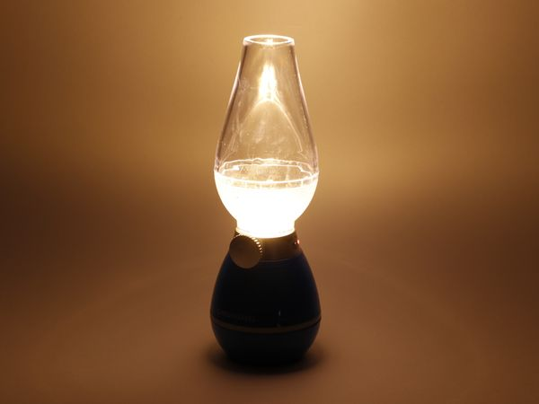 LED Retro-Laterne GRUNDIG, dimmbar, Batteriebetrieb, grün - Produktbild 2