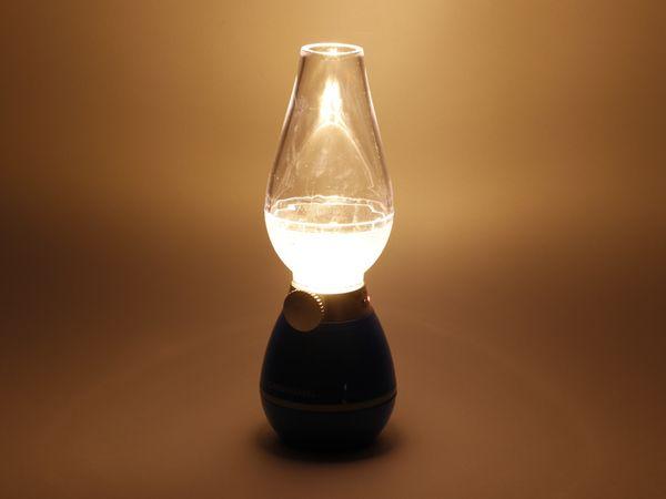 LED Retro-Laterne GRUNDIG, dimmbar, Batteriebetrieb, schwarz - Produktbild 2
