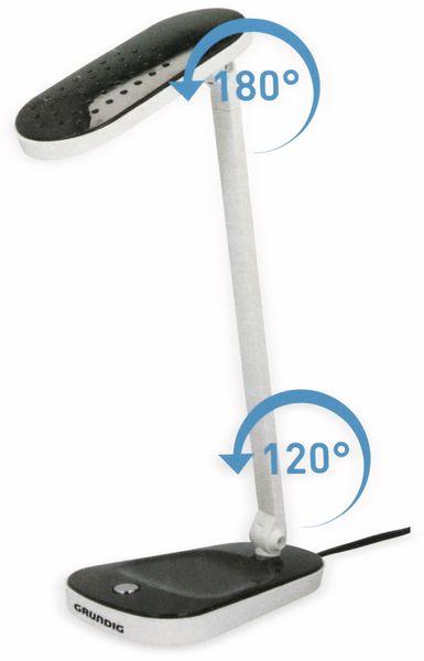 LED-Schreibtischleuchte GRUNDIG5 HD1609H, 5W, 27 LEDs, 230V~, schwarz weiß - Produktbild 4