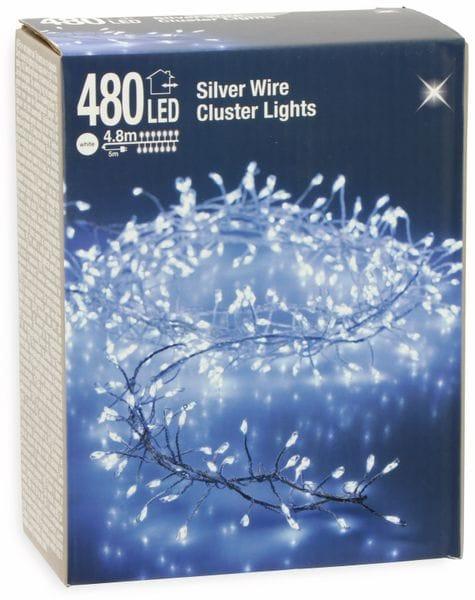 LED-Büschellichterkette Silberdraht, kaltweiß, 480 LEDs, 230V~, IP44, 9,8m - Produktbild 2