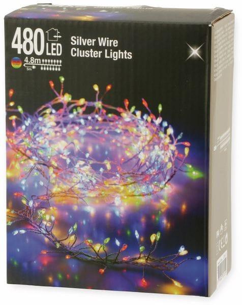 LED-Büschellichterkette Silberdraht, bunt, 480 LEDs, 230V~, IP44, 9,8m - Produktbild 3