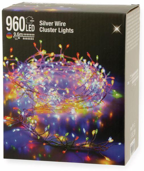 LED-Büschellichterkette Silberdraht, 960 LEDs, bunt, 230V~, IP44, 14,6m - Produktbild 4
