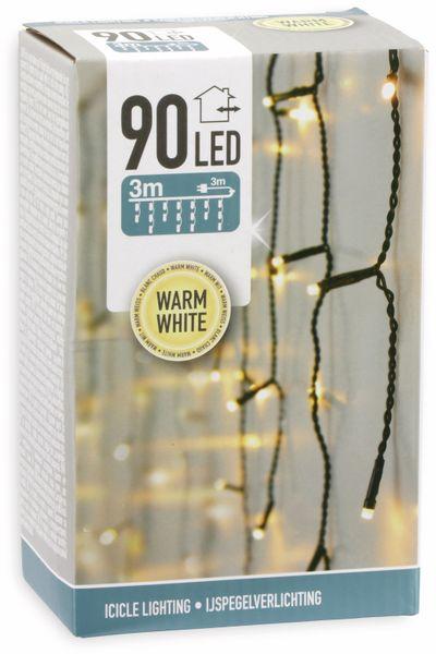 LED-Lichterkette Vorhang, 90 LEDs, warmweiß, 230V~, IP44, 3 m - Produktbild 2