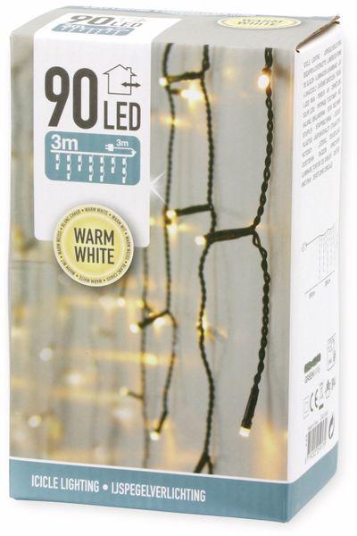 LED-Lichterkette Vorhang, 90 LEDs, warmweiß, 230V~, IP44, 3 m - Produktbild 3