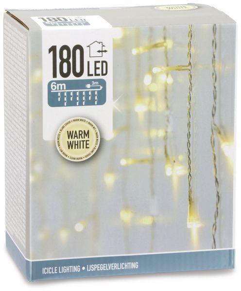 LED-Lichterkette Vorhang ,180 LEDs, warmweiß, IP44, 230 V~, 6 m, transp. - Produktbild 2