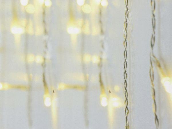 LED-Lichterkette Vorhang ,180 LEDs, warmweiß, IP44, 230 V~, 6 m, transp. - Produktbild 3