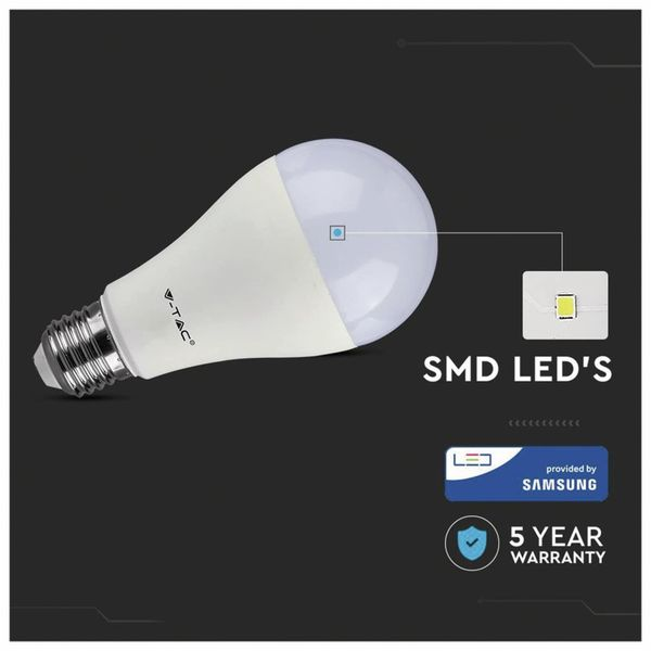 LED-Lampe V-TAC VT 217 (162), E27, EEK: F, 17 W, 1521 lm, 3000 K - Produktbild 4