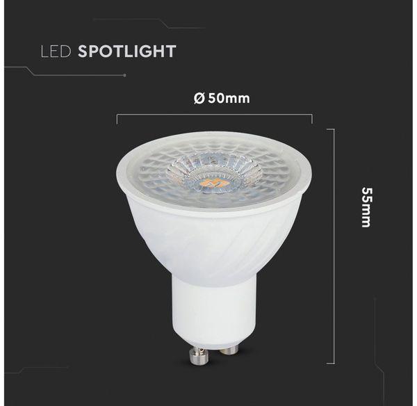 LED-Lampe V-TAC VT-247 (192), GU10, EEK: G, 6,5 W, 480 lm, 3000 K - Produktbild 4