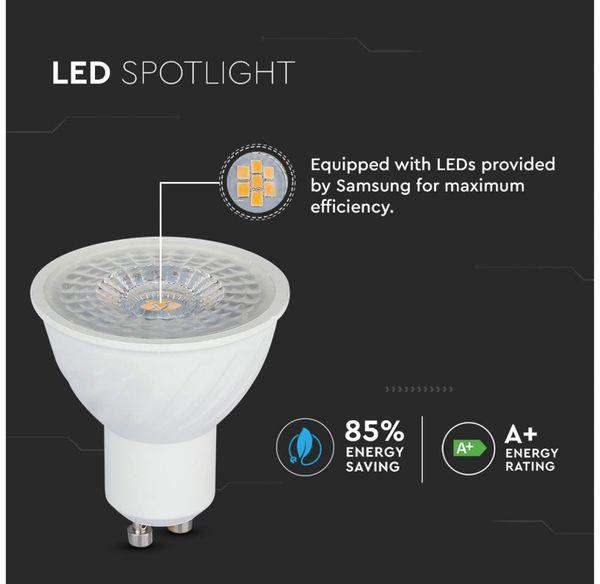 LED-Lampe V-TAC VT-247 (192), GU10, EEK: A+, 6,5 W, 480 lm, 3000 K - Produktbild 7