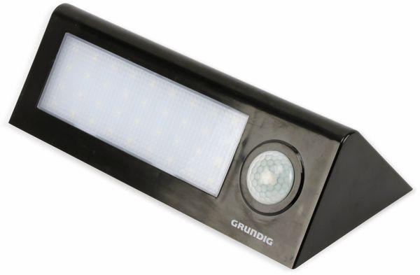 LED-Solar-Außen Leuchte GRUNDIG 07447, 36 LEDs, PIR, schwarz