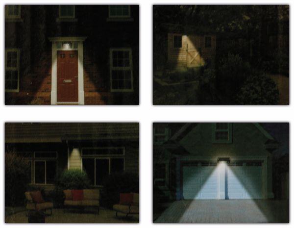 LED-Solar-Außen Leuchte GRUNDIG 07447, 36 LEDs, PIR, schwarz - Produktbild 5