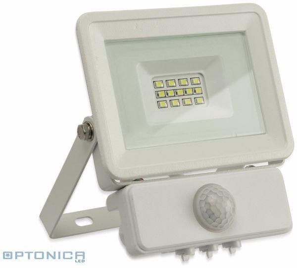 LED-Fluter, Bewegungsmelder OPTONICA FL5842, EEK: A+, 10 W, 4500K, weiß