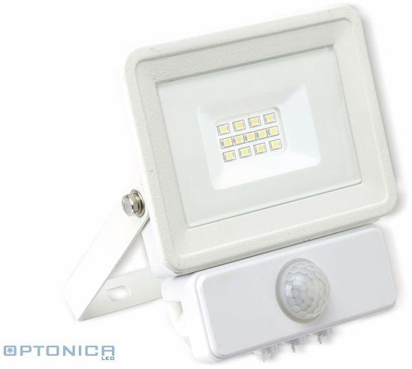 LED-Fluter, Bewegungsmelder OPTONICA FL5843, EEK: F, 10 W, 2700K, weiß