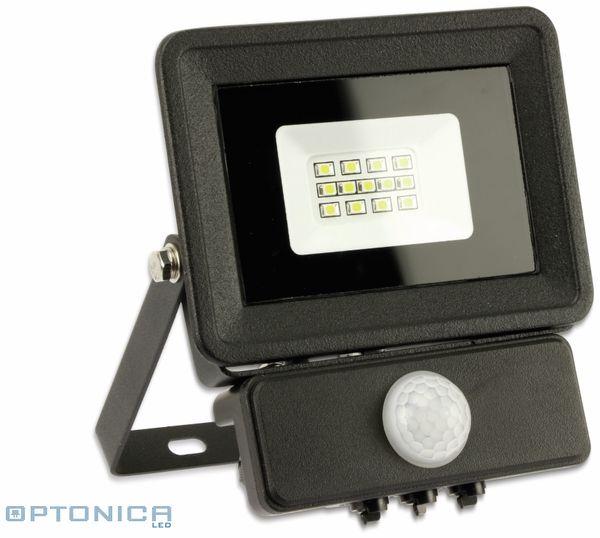 LED-Fluter, Bewegungsmelder OPTONICA FL5854, EEK: A+, 10 W, 4500K, schwarz