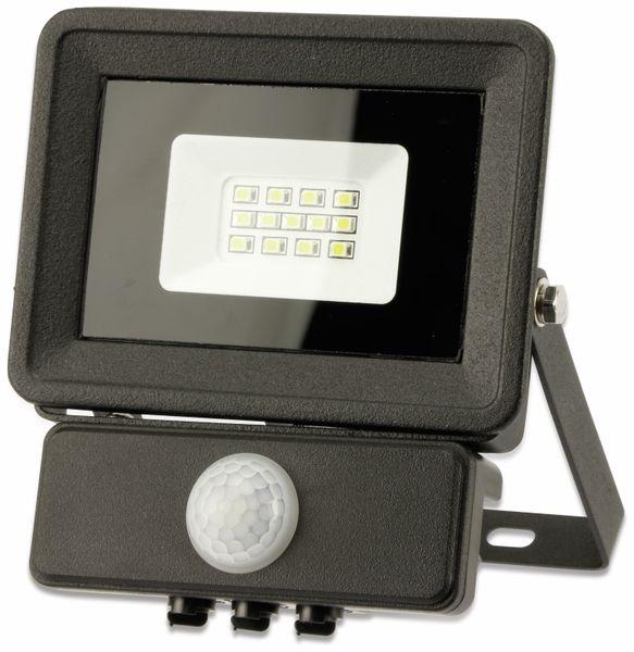LED-Fluter, Bewegungsmelder OPTONICA FL5854, EEK: A+, 10 W, 4500K, schwarz - Produktbild 2