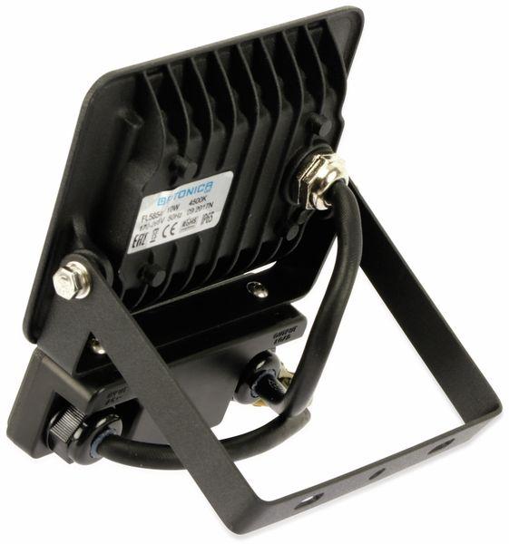 LED-Fluter, Bewegungsmelder OPTONICA FL5854, EEK: A+, 10 W, 4500K, schwarz - Produktbild 4