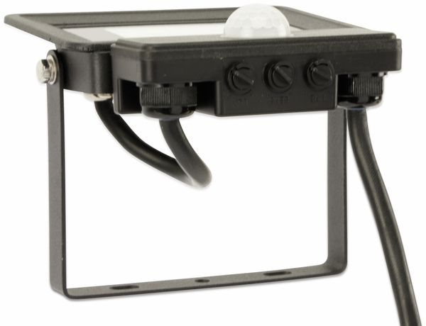 LED-Fluter, Bewegungsmelder OPTONICA FL5854, EEK: A+, 10 W, 4500K, schwarz - Produktbild 5