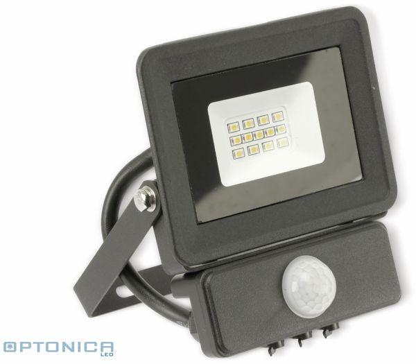 LED-Fluter, Bewegungsmelder OPTONICA FL5855, EEK: A+, 10 W, 2700K, schwarz