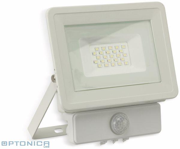 LED-Fluter, Bewegungsmelder OPTONICA FL5844, EEK: A+, 20 W, 6000K, weiß