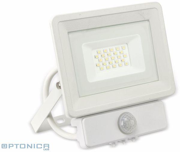 LED-Fluter, Bewegungsmelder OPTONICA FL5846, EEK: G, 20 W, 2700K, weiß