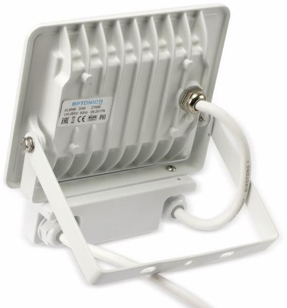 LED-Fluter, Bewegungsmelder OPTONICA FL5846, EEK: G, 20 W, 2700K, weiß - Produktbild 3
