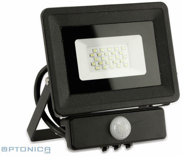 LED-Fluter, Bewegungsmelder OPTONICA FL5857, EEK: A+, 20 W, 4500K, schwarz