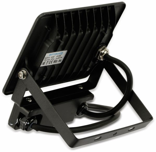LED-Fluter, Bewegungsmelder OPTONICA FL5857, EEK: A+, 20 W, 4500K, schwarz - Produktbild 4