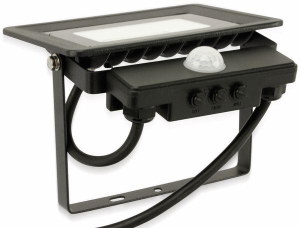 LED-Fluter, Bewegungsmelder OPTONICA FL5857, 20 W, 4500K, schwarz - Produktbild 5