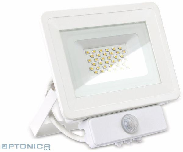 LED-Fluter, Bewegungsmelder OPTONICA FL5847, EEK: A+, 30 W, 6000K, weiß