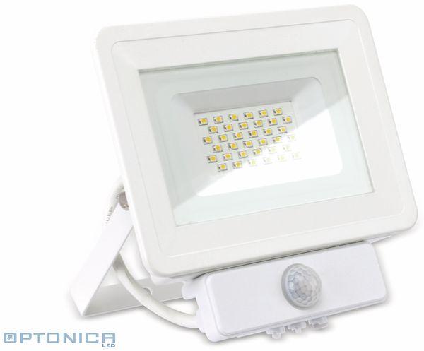LED-Fluter, Bewegungsmelder OPTONICA FL5849, EEK: A+, 30 W, 2700K, weiß