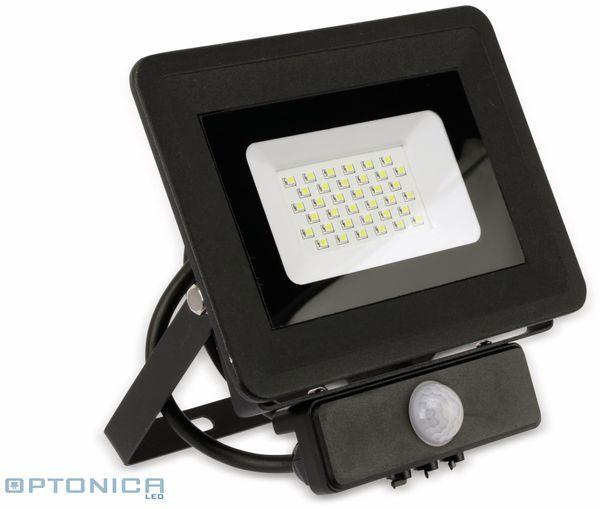 LED-Fluter, Bewegungsmelder OPTONICA FL5861, EEK: F, 30 W, 2700K, schwarz