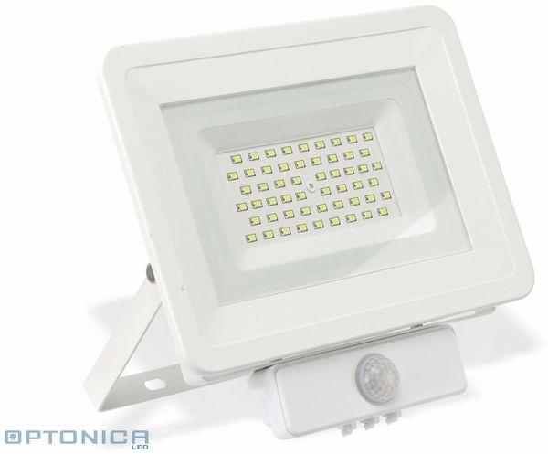 LED-Fluter, Bewegungsmelder OPTONICA FL5851, EEK: A+, 50 W, 4500K, weiß