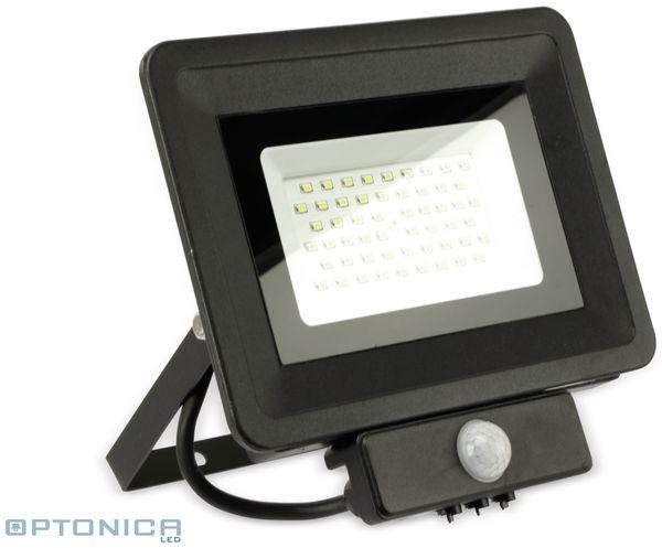 LED-Fluter, Bewegungsmelder OPTONICA FL5862, EEK: A+, 50 W, 6000K, schwarz
