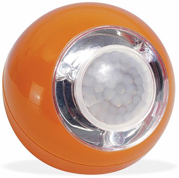 LED Lichtball LLL GEV 742 mit Bewegungsmelder, batteriebetrieb, orange